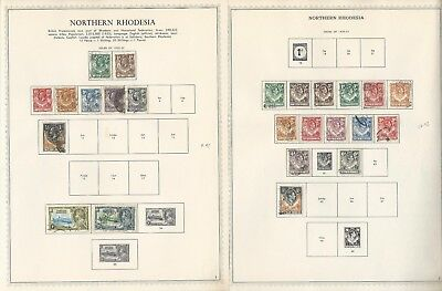 Northern Rhodesia Collection 1925 to 1963 on 4 Minkus Specialty Pages