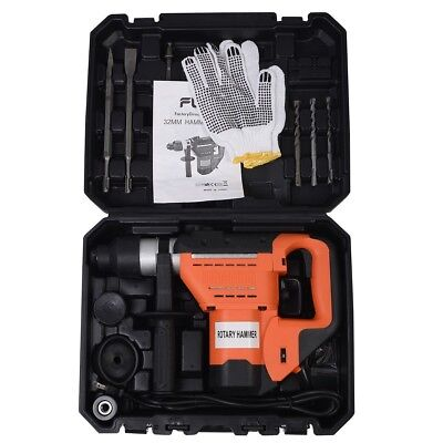 """1-1/2"""" SDS Electric Rotary Hammer Drill Plus Demolition Bits Variable Speed Tool"""