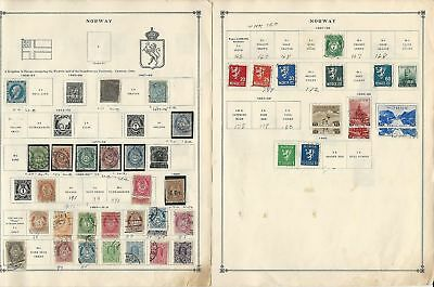Norway Collection 1856 to 1940 on 7 Scott International Pages