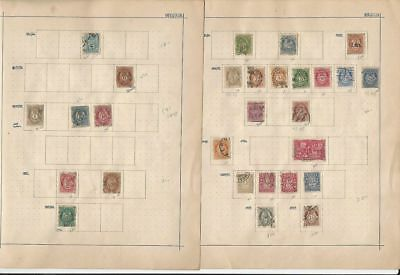 Norway Collection 1863 to 1909 on 2 Album Pages, Early Classics