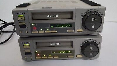 lot of 2 Sony EVO-550H Professional Hi8 video cassette recorder HiFi  Timecode