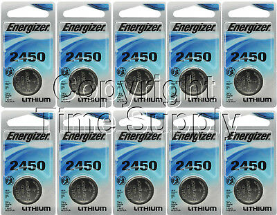 10 ENERGIZER 2450 Lithium Watch Batteries CR2450 EXPIRE 03-2025