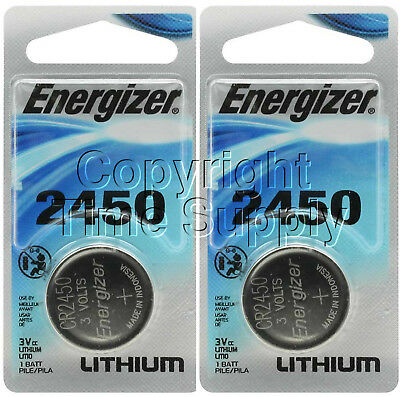 2 2450 ENERGIZER Lithium Watch Batteries CR2450 EXPIRE 03-2025
