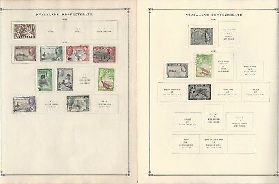 Nyasaland Collection 1908-1964 on 12 Scott International & Minkus Pages