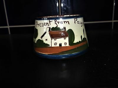 Vintage Watcombe Torquay Cottage Ware Sugar Bowl Present From Paignton