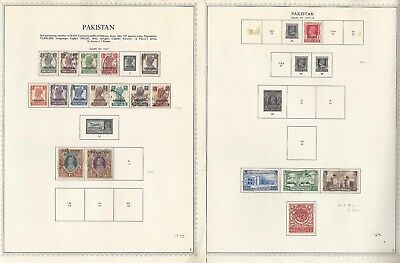 Pakistan Collection 1947-1972 on 28 Minkus Specialty Pages