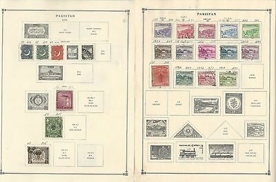 Pakistan Collection 1947 to 1994 on 30 Scott International Pages