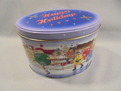 """M&M-Tolle WEIHNACHTS-BLECHDOSE-""""SKATING RING""""-Limited Edition Dose,1999 !"""