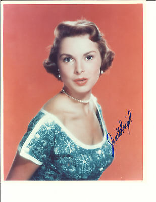 Janet Leigh Blue Top Signed Photo Autographed W/Coa 8X10