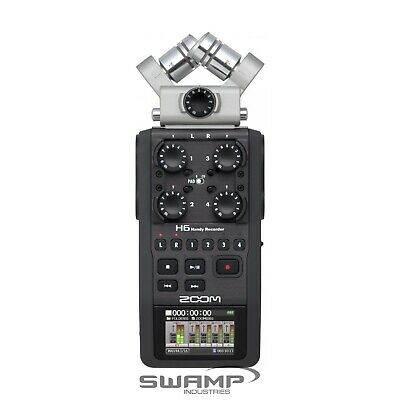 Zoom H6 Handy Portable Digital Field Recorder with Interchangeable Mic System
