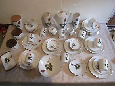 """Kaffeeservcice - 55 tlg. """" Heinrich Winterling """" 10  Pers.  - Rote Rose -"""