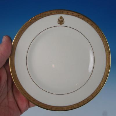 Syracuse Gold Embossed Presidential Seal Train Railroad Travel China Bread Plate