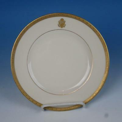 Syracuse Gold Embossed Presidential Seal Train Railroad Travel China Salad Plate