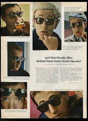 1967 Woody Allen 6 photo Foster Grant sunglasses vintage print ad