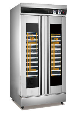 32 Trays Dough Heater Proofer Cabinet with Clear Door Stainless Steel Commercial
