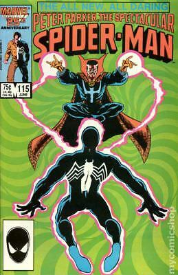 Spectacular Spider-Man (1st Series) #115 1986 VF Stock Image