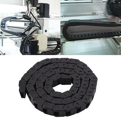 Black Nylon Cable drag chain wire carrier 10*10mm Length 1000mm/ 40inch
