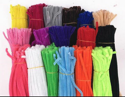 """100PCS DIY For Chenille Craft Stems Pipe Cleaners 30cm 12"""" - Lots of Colours"""