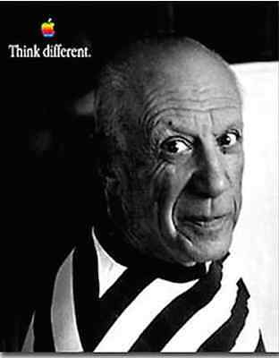 """Rare Picasso 24""""X36"""" Apple Think Different Poster"""