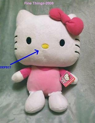 """Cuddly 15.5"""" Hello Kitty Plush NWT Has Small Defect On Face Still Cute! See Pics"""