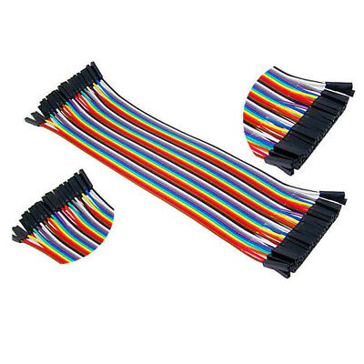 Lots 40pc Dupont Male To Male Jumper Wire Ribbon Cable for Breadboard Arduino