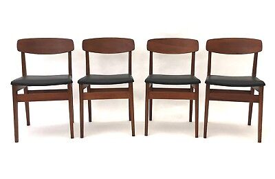 4 x Vintage Danish Era Retro Mid Century Solid Teak G Plan Dining Chairs