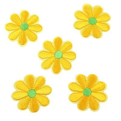 5x Hot Embroidered Applique Flower Sewing Iron On Patch Badge Sewing DIY Craft
