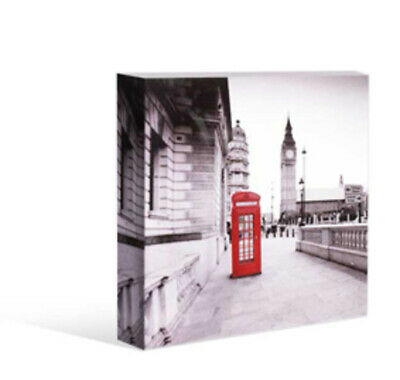Kelly Lane Cosmopolitan London Tower Red Phone Box Canvas 20cm Artiefartie Free