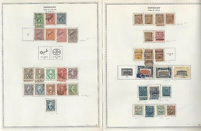 Paraguay Collection 1868 to 1971 on 190 Minkus One-Sided Specialty Pages