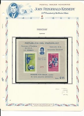Paraguay Collection, John Kennedy & Space on 11 white Ace Pages Mint NH (A)