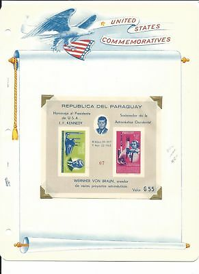 Paraguay Collection, John Kennedy & Space on 12 White Ace Pages Mint NH (B)