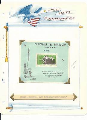 Paraguay Collection, John Kennedy & Space on 6 White Ace Pages Mint NH (D)
