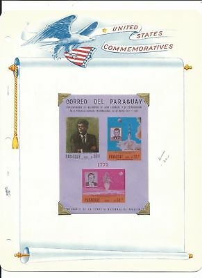 Paraguay Collection, John Kennedy & Space on 8 White Ace Pages Mint NH (E)