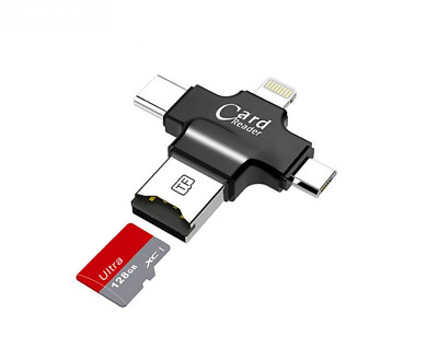 4in1 iOS Micro USB Type-C OTG iFlash Drive SD TF Card Reader Android iPhone ipad