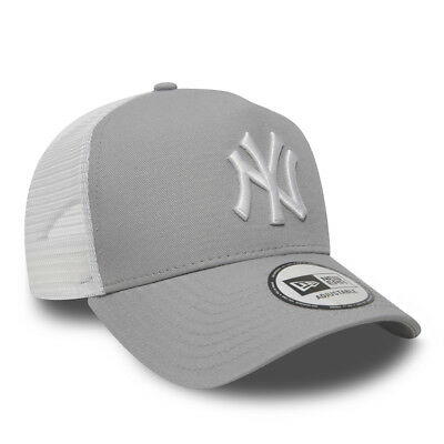 New Era Men Baseball Cap.mlb New York Yankees Clean A Frame Mesh Trucker Hat 937