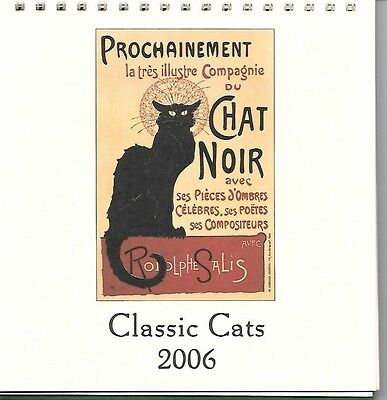 Classic Cats 2006 Stand-up Calendar French Italian American Poster Art Cavallini