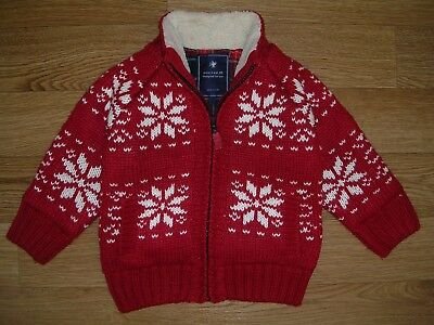 NEXT Boys Christmas Jumpers Red Cardigan Santa Reindeer  Age 18-24m