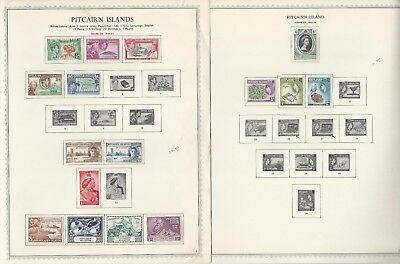 Pitcairn Islands Collection 1940 to 1985 on 24 Minkus One-Sided Specialty Pages