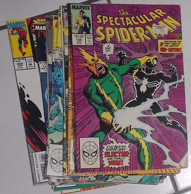 Marvel Comics , Spectacular   Spider-Man ,# 135 To 251 .lot Of Sixteen ,