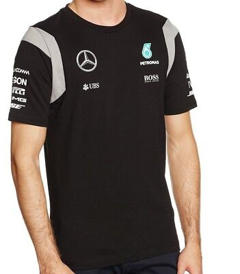T-SHIRT Tee Formula One 1 Mercedes AMG Petronas F1 Team Driver NEW! Black