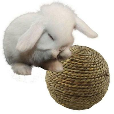 Natural Straw Play Ball Pet Exercise Toy for Small Animals Birds Cats Rabbit Z