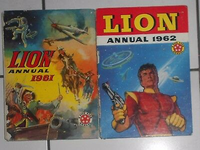 2 Lion Comic Annuals , 1961 And 1962. Paddy Payne , Captain Condor.