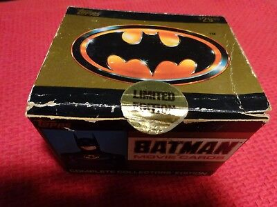 "Topps Picture Card  ""Batman Movie Cards"" 143 Movie Cards and 22 Stickers New"