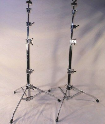 2 Gorgeous Vintage 1969 Rogers # 48-0542 SWIVOMATIC Flat Base Cymbal Stands