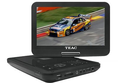 """TEAC Portable DVD Player with 10"""" Swivel Screen Built in Lithium Ion battery"""
