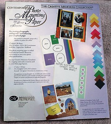 Creative Memories CONTEMPORARY Printed Photo Mounting 10x12 Paper - NIP