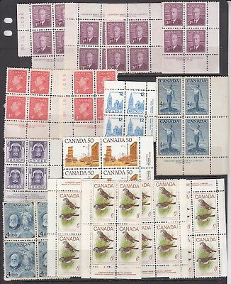 Canada - Two Pages Of Mint Never Hinged - Old/new - See Scans!!