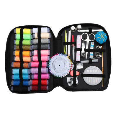Sewing Kit Measure Scissor Thimble Thread Needle Storage Box Travel Set Portable