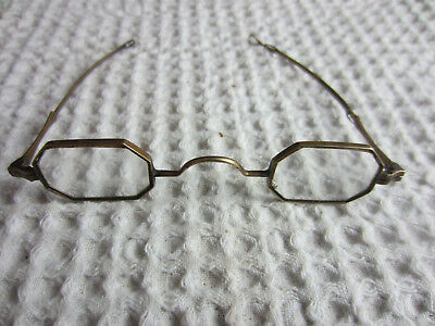 antique 14K gold adjustable arm tiny spectacles eyeglasses for scrap 12.61g