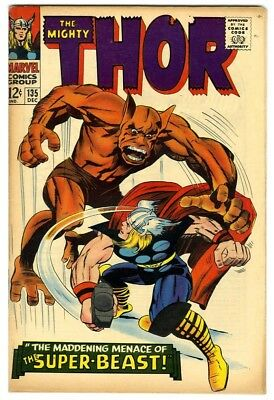 Thor #135 (1966) F/VF New Original Owner Marvel Comics Collection
